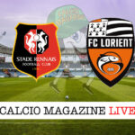 Rennes Lorient cronaca diretta live risultato in tempo reale