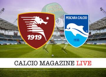 Salernitana Pescara cronaca diretta live risultato in tempo reale