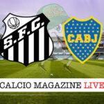 Santos Boca Juniors cronaca diretta live risultato in tempo reale
