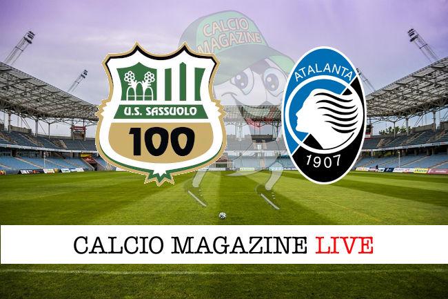 Sassuolo Atalanta cronaca diretta live risultato in tempo reale
