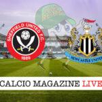 Sheffield United Newcastle cronaca diretta live risultato in tempo reale