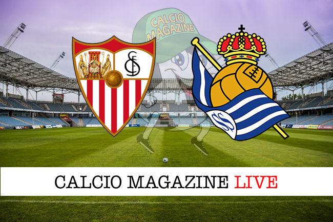 Siviglia Real Sociedad cronaca diretta live risultato in tempo reale