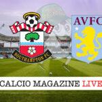 Southampton Aston Villa cronaca diretta live risultato in tempo reale