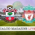Southampton Liverpool cronaca diretta live risultato in tempo reale