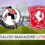 Sparta Rotterdam Twente cronaca diretta live risultato in tempo reale