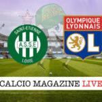 St. Etienne Lione cronaca diretta live risultato in tempo reale