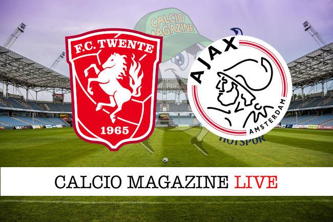 Twente Ajax cronaca diretta live risultato in tempo reale