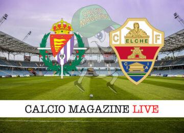 Valladolid Elche cronaca diretta live risultato in tempo reale