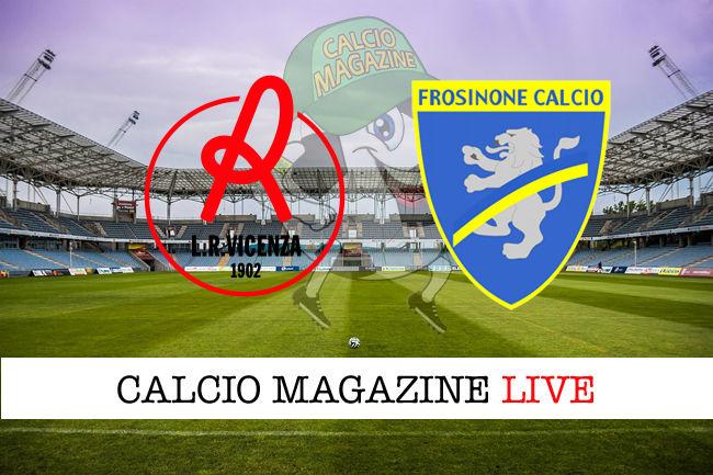 Vicenza Frosinone cronaca diretta live risultato in tempo reale