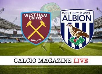 West Ham West Bromwich cronaca diretta live risultato in tempo reale