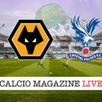 Wolverhampton Crystal Palace cronaca diretta live risultato in tempo reale