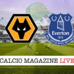 Wolverhampton Everton cronaca diretta live risultato in tempo reale