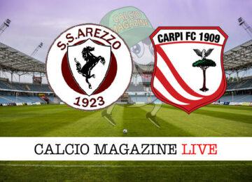 Arezzo Carpi cronaca diretta live risultato in tempo reale