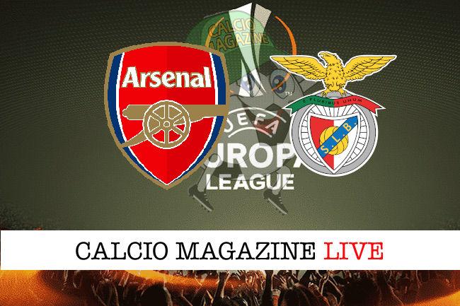 Arsenal Benfica cronaca diretta live risultato in tempo reale