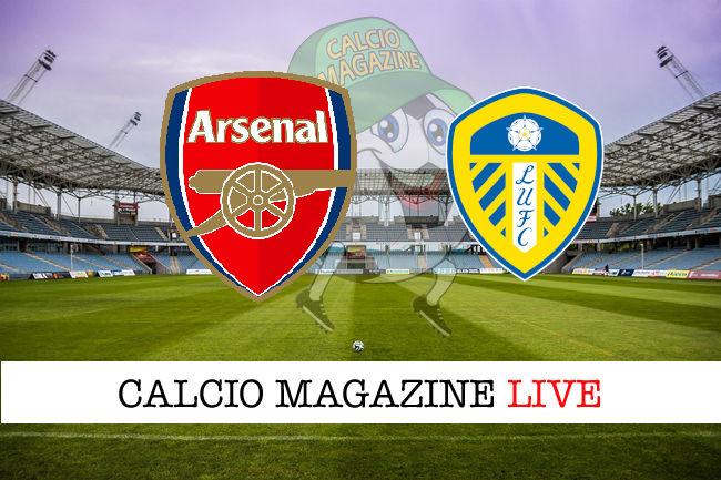 Arsenal Leeds United cronaca diretta live risultato in tempo reale