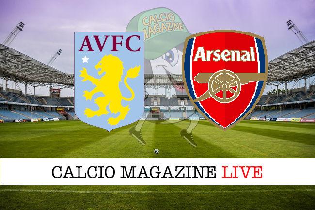 Aston Villa Arsenal cronaca diretta live risultato in tempo reale