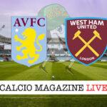Aston Villa West Ham cronaca diretta live risultato in tempo reale