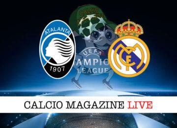 Atalanta Real Madrid cronaca diretta live risultato in tempo reale