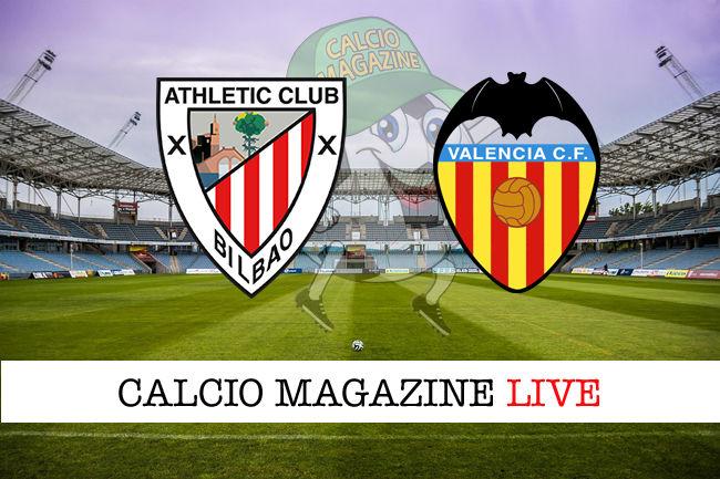 Athletic Bilbao Valencia cronaca diretta live risultato in tempo reale