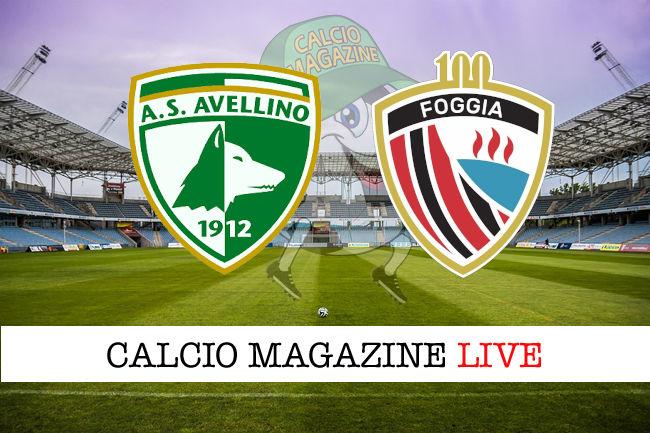 Avellino Foggia cronaca diretta live risultato in tempo reale
