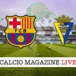 Barcellona Cadice cronaca diretta live risultato in tempo reale