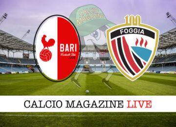 Bari Foggia cronaca diretta live risultato in tempo reale