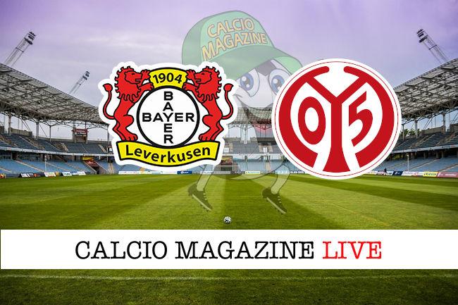 Bayer Leverkusen Mainz 05 cronaca diretta live risultato in tempo reale