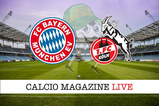 Bayern Monaco Colonia cronaca diretta live risultato in tempo reale