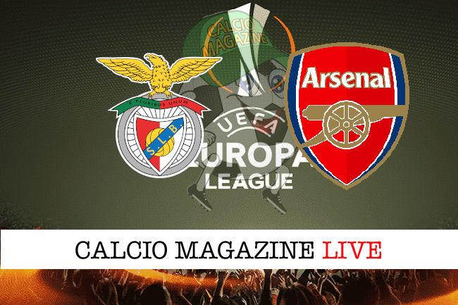Benfica Arsenal cronaca diretta live risultato in tempo reale