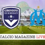 Bordeaux Olympique Marsiglia cronaca diretta live risultato in tempo reale