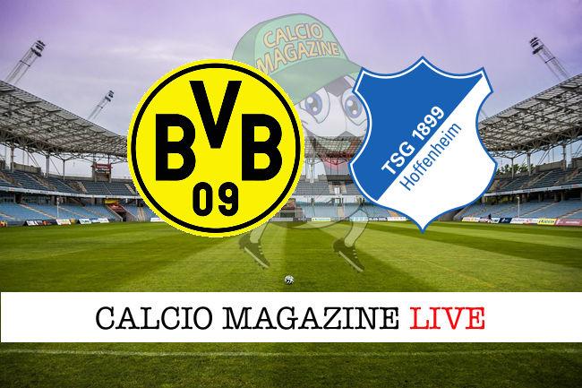 Borussia Dortmund Hoffenheim cronaca diretta live risultato in tempo reale