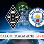 Borussia M'Gladbach Manchester City cronaca diretta live risultato in tempo reale
