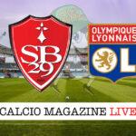 Brest Olympique Lione cronaca diretta live risultato in tempo reale