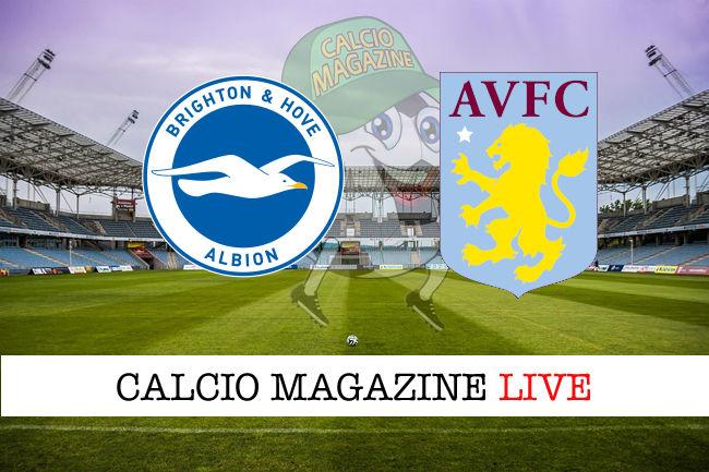 Brighton Aston Villa cronaca diretta live risultato in tempo reale