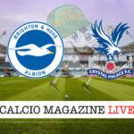 Brighton Crystal Palace cronaca diretta live risultato in tempo reale