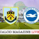 Burnley Brighton cronaca diretta live risultato in tempo reale