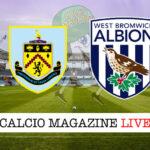 Burnley West Bromwich cronaca diretta live risultato in tempo reale