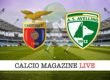 Casertana Avellino cronaca diretta live risultato in tempo reale