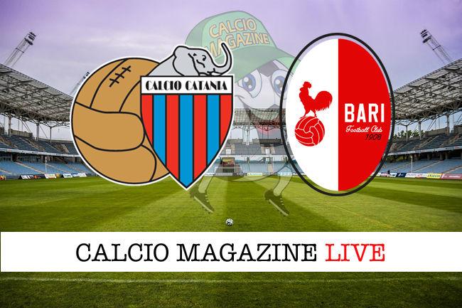 Catania Bari cronaca diretta live risultato in tempo reale