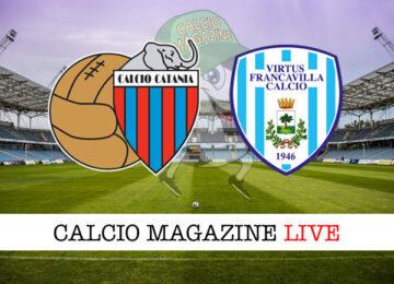Catania Virtus Francavilla cronaca diretta live risultato in tempo reale