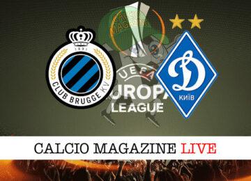 Club Brugge Dinamo Kiev cronaca diretta live risultato in tempo reale