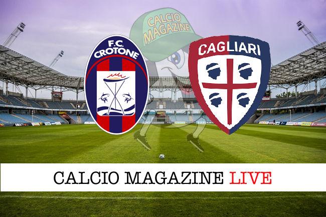 Crotone Cagliari cronaca diretta live risultato in tempo reale
