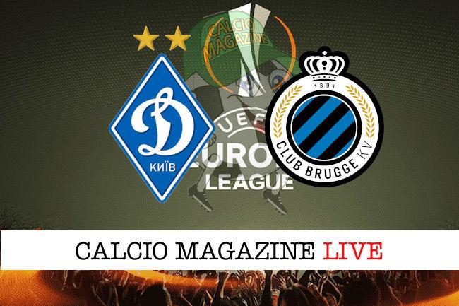 Dinamo Kiev Club Brugge cronaca diretta live risultato in tempo reale