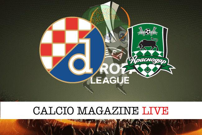 Dinamo Zagabria Krasnodar cronaca diretta live risultato in tempo reale