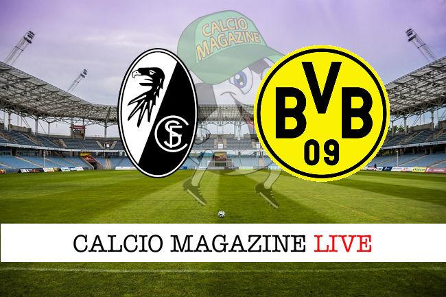 Friburgo Borussia Dortmund cronaca diretta live risultato in tempo reale
