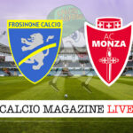 Frosinone Monza cronaca diretta live risultato in tempo reale