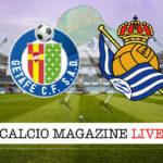 Getafe Real Sociedad cronaca diretta live risultato in tempo reale