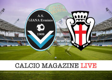 Giana Erminio Pro Vercelli cronaca diretta live risultato in tempo reale