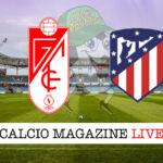 Granada Atletico Madrid cronaca diretta live risultato in tempo reale