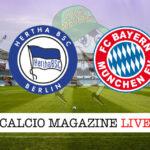Hertha Berlino Bayern Monaco cronaca diretta live risultato in tempo reale